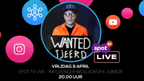 Spot TV Live met influencer Wolliewhol Junior